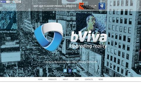 Screenshot of Press Page bviva.com captured Oct. 27, 2014