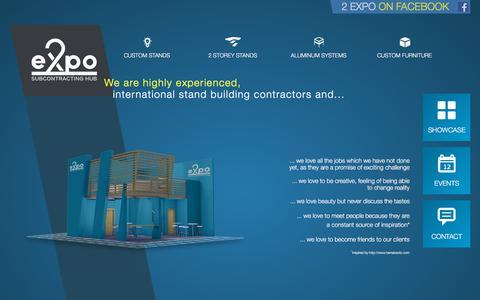 Screenshot of Home Page 2-expo.com - 2 Expo - Home - captured Sept. 21, 2018