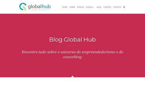 Screenshot of Blog globalhub.com.br - O Universo do Coworking - Blog GlobalHub - captured Sept. 28, 2018