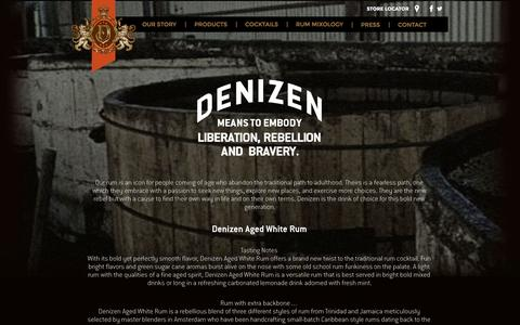 Screenshot of Products Page denizenrum.com - Our Products | Denizen Rum - captured Oct. 2, 2014