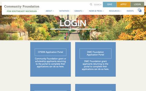Screenshot of Login Page cfsem.org - Login - CFSEM : CFSEM - captured Sept. 29, 2018