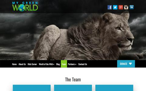 Screenshot of Team Page mygreenworld.org - Team - My Green World - captured Sept. 20, 2018