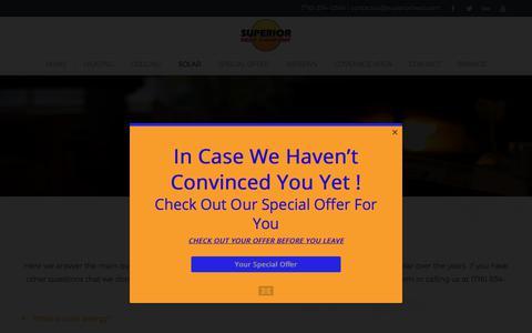 Screenshot of FAQ Page superiorheat.com - FAQ - Superior Heat - captured Nov. 5, 2017