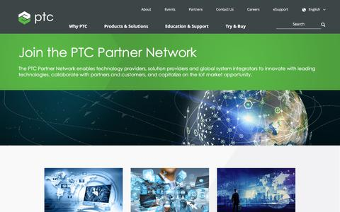 Screenshot of Signup Page ptc.com - Join the PTC Partner Network | PTC - captured Oct. 14, 2017
