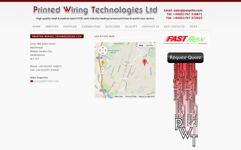 Screenshot of Contact Page pwtpcbs.com - Contact Us - captured Oct. 3, 2014