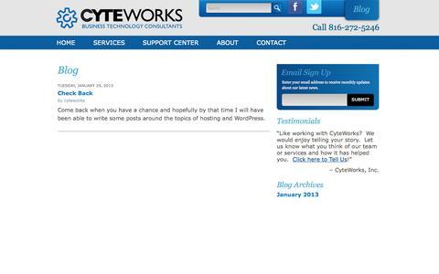 Screenshot of Blog cyteworks.com - CyteWorks, Inc. Blog -- CyteWorks, Inc. - captured Sept. 30, 2014