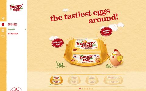 Screenshot of Products Page thehappyegg.co.uk - The Happy Egg Company - Our Eggs - Product Range - captured Nov. 4, 2014