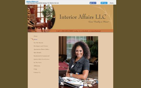 Screenshot of About Page interioraffairssa.com - Interior Affairs LLC - About - captured Oct. 12, 2018