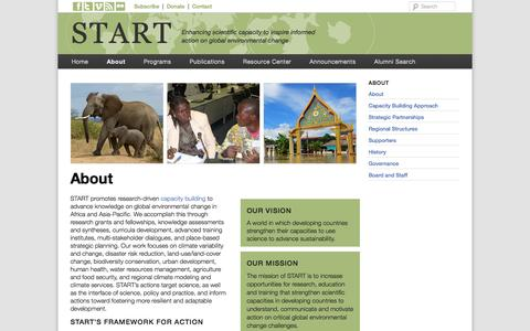 Screenshot of About Page start.org - About | START - captured Oct. 6, 2014