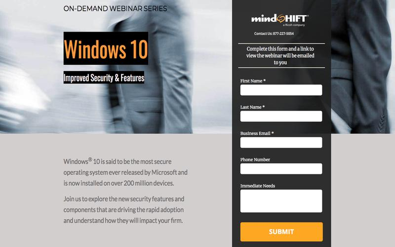 Windows 10 Improved Security and Features - mindSHIFT Technologies Webinar