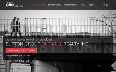 Screenshot of Home Page suttonoldmill.com - Sutton Group Old Mill Realty Inc. - Sutton Group Old Mill Realty Inc. Brokerage | Toronto West Real Estate - captured Sept. 27, 2015