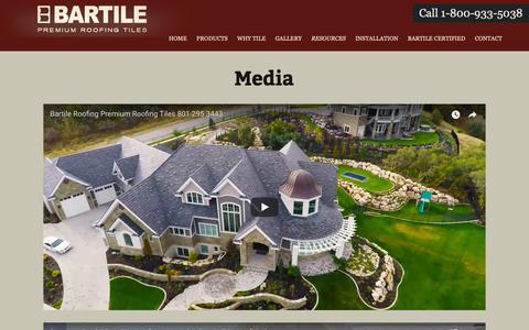 Screenshot of Press Page bartile.com - Media | Bartile - captured Oct. 5, 2018