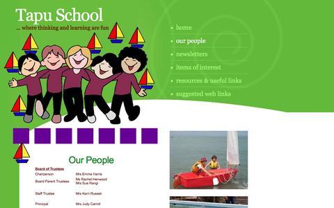 Screenshot of Team Page tapu.school.nz - Staff Tapu School Years 1 - 8 Coromandel Peninsula - captured March 15, 2017