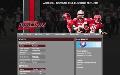 Screenshot of Team Page enschede-broncos.nl - Enschede Broncos - captured Oct. 4, 2014
