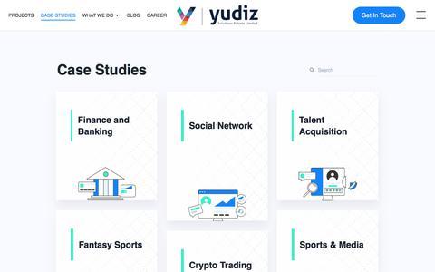 Screenshot of Case Studies Page yudiz.com - Case Studies   Yudiz Solutions Pvt. Ltd. - captured Dec. 28, 2019