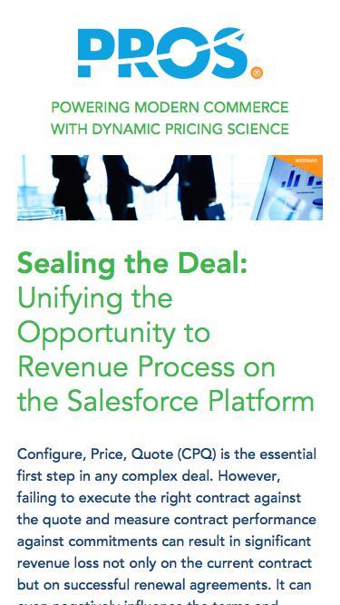 Sealing the Deal | PROS Webinars | PROS