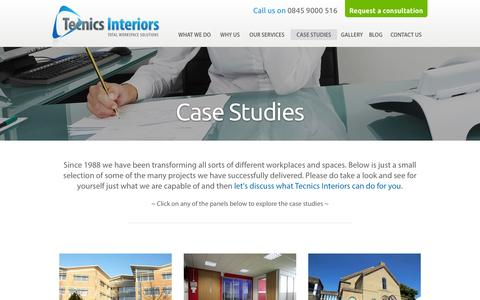 Screenshot of Case Studies Page office-refurb.com - Case Studies | Workspace Projects | Tecnics Interiors - captured Oct. 26, 2014