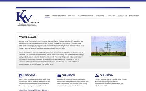 Screenshot of Home Page kw-associates.com - KW Associates - captured Sept. 30, 2014