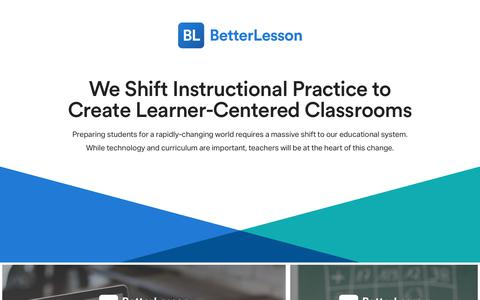 BetterLesson – The leader in personalized professional development.