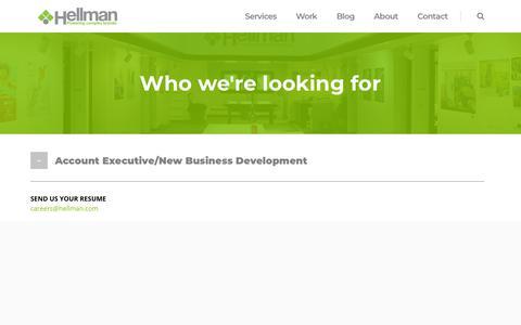 Screenshot of Jobs Page hellman.com - Careers - Hellman - captured July 18, 2018