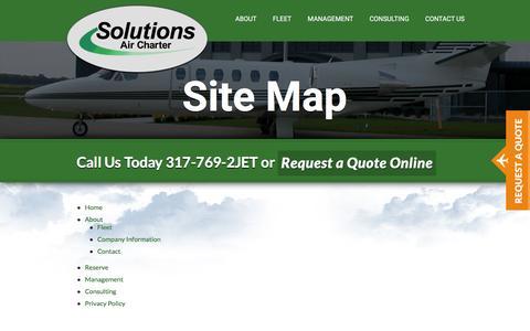 Screenshot of Site Map Page solutionsair.com - Site Map - Solutions Air : Solutions Air - captured Feb. 15, 2016