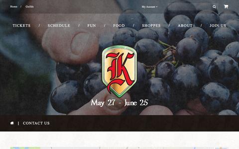 Screenshot of Contact Page renfestcorona.com - Contact Us  |  Koroneburg Renaissance Festival - captured April 4, 2017