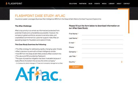 Screenshot of Case Studies Page flashpoint-intel.com - Flashpoint Case Study: Aflac - captured Nov. 12, 2019