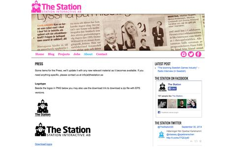 Screenshot of Press Page station-interactive.com - Press | The Station - captured Oct. 1, 2014
