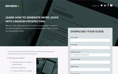 LinkedIn Prospecting Workbook | New Breed