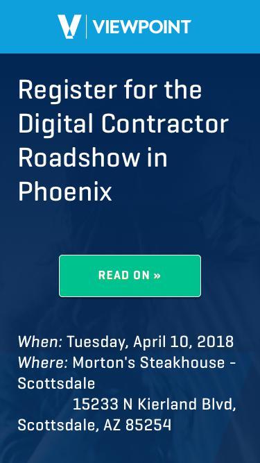 Register for the Digital Contractor Roadshow in Phoenix