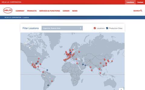 Screenshot of Locations Page helmus.com - HELM U.S. CORPORATION: Locations - captured Sept. 28, 2018