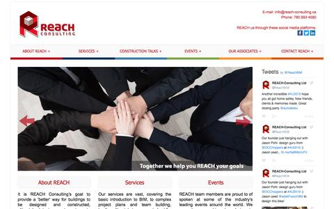 Screenshot of Home Page reach-consulting.ca - REACH Consulting - captured Dec. 2, 2016