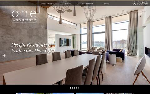Screenshot of Home Page oneunited.ro - Homepage | One United Properties - captured Jan. 26, 2015