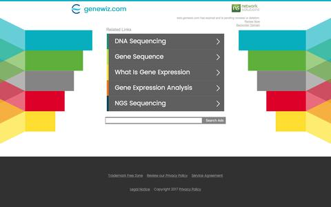 Screenshot of Landing Page genewiz.com - genewiz.com - captured July 25, 2017