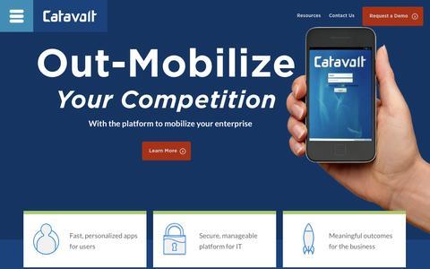 Screenshot of Home Page catavolt.com - Catavolt Mobile App Development: Enterprise Mobility - captured Jan. 14, 2015