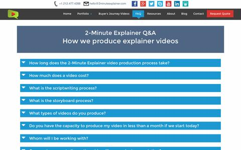 Screenshot of FAQ Page 2minuteexplainer.com - How we produce explainer videos | FAQ | 2-Minute Explainer - captured Nov. 28, 2016