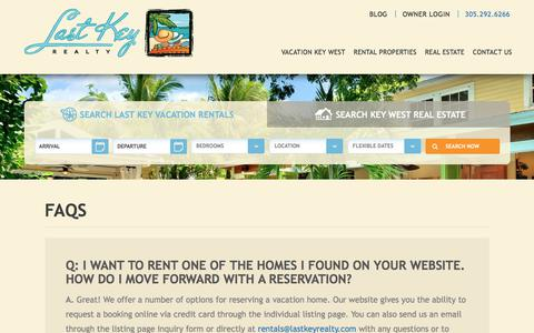 Screenshot of FAQ Page lastkeyrealty.com - FAQs | Last Key Realty - captured July 16, 2017