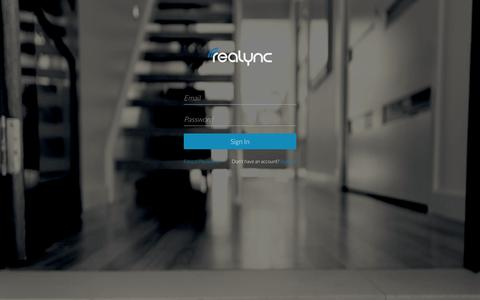 Screenshot of Login Page realync.com - ReaLync - captured Nov. 5, 2014