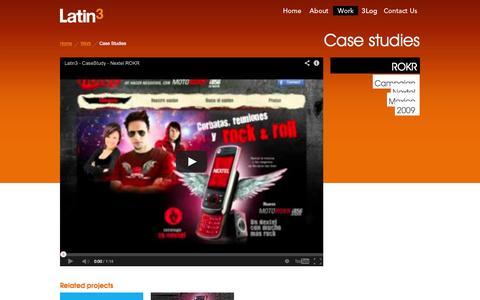 Screenshot of Case Studies Page latin3.com - Digital Marketing Agency - Latin3 - captured Sept. 29, 2014