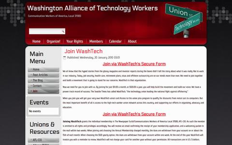 Screenshot of Signup Page washtech.org - Join - captured Feb. 24, 2016