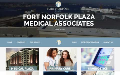 Screenshot of Home Page fortnorfolkmedical.com - Home - Fort Norfolk Medical - Fort Norfolk Medical Associates - captured June 6, 2017