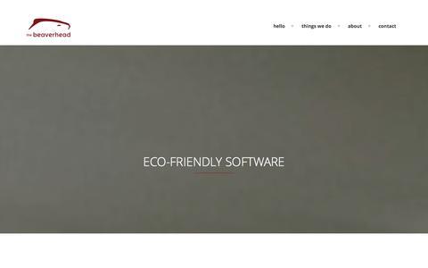 Screenshot of Home Page thebeaverhead.com - The Beaverhead home page - captured Jan. 11, 2016