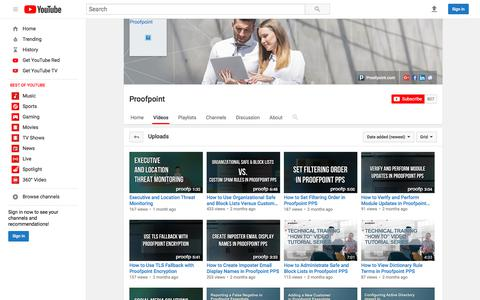 Proofpoint  - YouTube