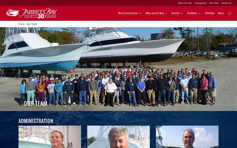Screenshot of Team Page jarrettbay.com - Our Team - Jarrett Bay Boatworks - captured Feb. 11, 2016