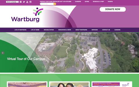 Screenshot of Home Page wartburg.org - Home Health Care & Rehabilitative Care, Bronxville NY, Mt. Vernon NY | Wartburg - captured July 13, 2018