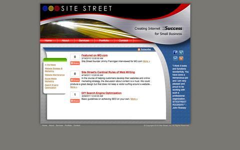 Screenshot of Blog sitestreet.com - Austin Web Design - Web Hosting - Search Engine Optimization - Social Media - captured Aug. 13, 2016