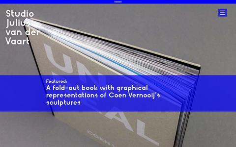 Screenshot of Home Page juliusvaart.com - Studio Julius van der Vaart   Branding, Graphic Design & Digital Design - captured Oct. 9, 2014