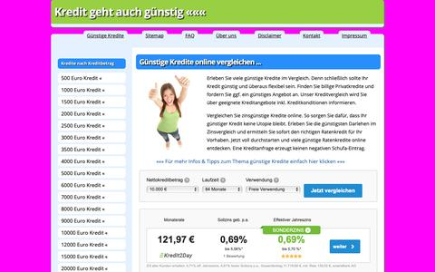 Screenshot of Home Page guenstige-kredite-im-vergleich.com - Günstige Kredite im Vergleich ᐅ Günstiger zum Online-Kredit - captured Nov. 7, 2018