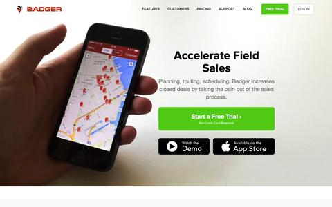 Badger Maps - Sales Mapping Application