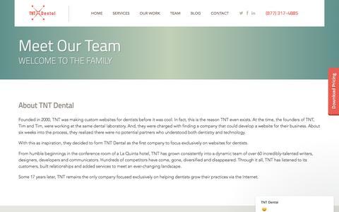 Screenshot of Team Page tntdental.com - TNT Dental says… - captured Jan. 15, 2018